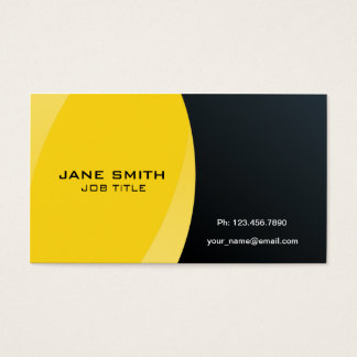 Elegant Modern Professional Yellow and Black Business Card