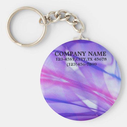elegant modern purple abstract business keychains