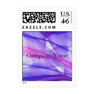 elegant modern purple abstract business stamp