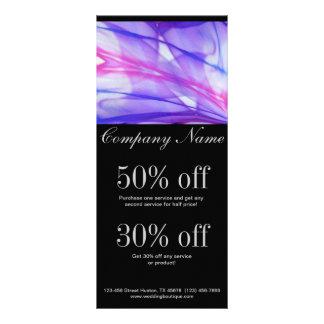 elegant modern purple abstract business rack card