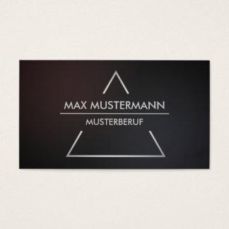 Elegant modern pyramid visiting cards