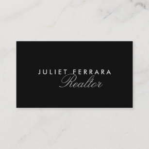 High end business cards zazzle elegant modern realtor high end business card reheart Images
