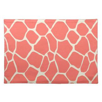 Elegant modern romantic giraffe place mat