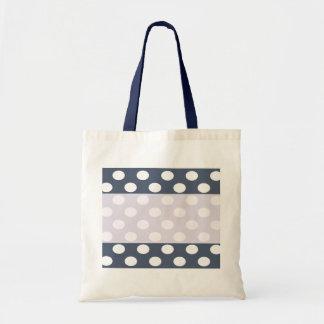 Elegant modern romantic polka dots personalized budget tote bag