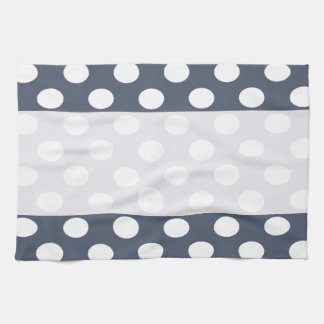 Elegant modern romantic polka dots personalized kitchen towel