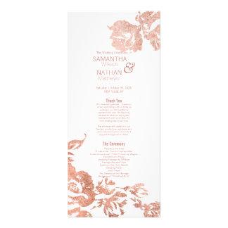 Elegant Modern Rose Gold Floral Wedding Programs