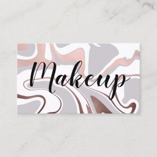 Elegant modern rose gold marble look business card