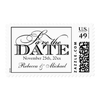 Elegant Modern Save the Date Postage