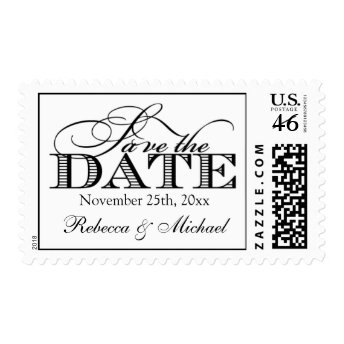 Elegant Modern Save the Date Postage