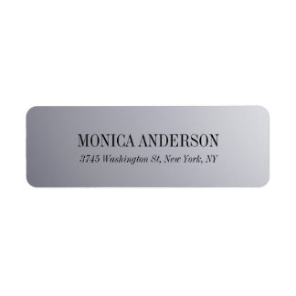 Elegant Modern Silver Grey Return Address Label