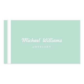 ELEGANT MODERN SIMPLE BLUE CLEAN CREAM DECORATOR BUSINESS CARD