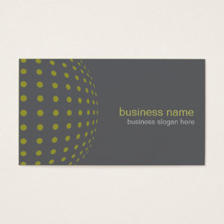 Elegant Modern Simple Olive Green Circles Business Card