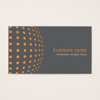 Elegant Modern Simple Orange Circles Business Card