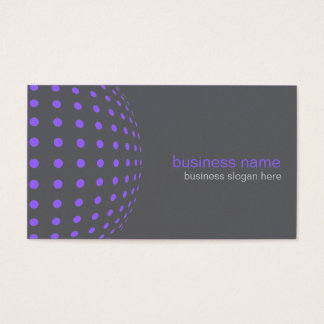 Elegant Modern Simple Purple Circles Business Card