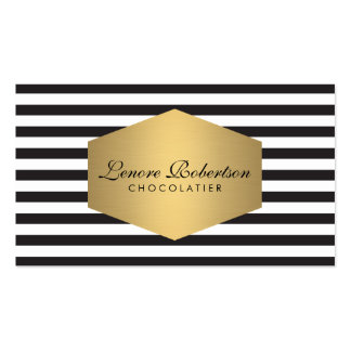 Elegant Modern Striped Bakery Business Card