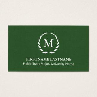 Elegant & Modern Student Business Cards