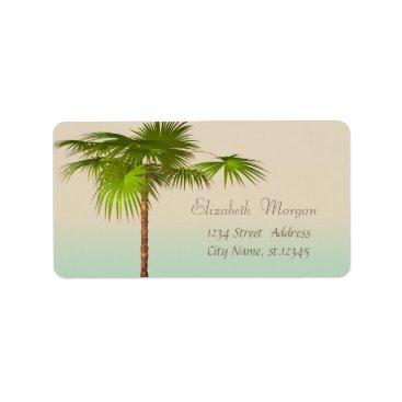 Beach Themed Elegant Modern Stylish,Palm Label