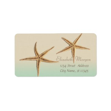 Beach Themed Elegant Modern Stylish,Starfish Label