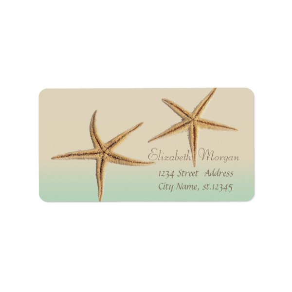 Elegant Modern Stylish,Starfish Label