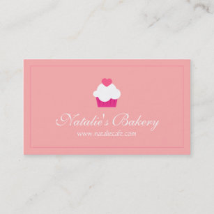 Sweet business cards templates zazzle elegant modern sweet cupcake bakery business card colourmoves