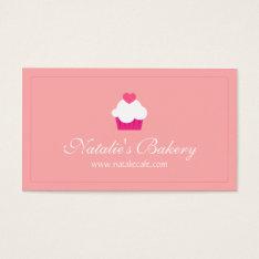 Elegant, Modern, Sweet Cupcake, Bakery Business Card at Zazzle