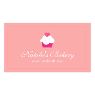 Elegant, Modern, Sweet Cupcake, Bakery Double-Sided Standard Business Cards (Pack Of 100)