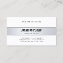 Elegant Modern Trendy Stylish Minimalist Plain Business Card
