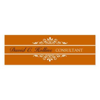 Elegant Modern  Unique Royal Floral Pattern Mini Business Card