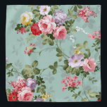 """Elegant Modern Vintage Flower Bandana<br><div class=""""desc"""">Elegant Modern Vintage Flower Bandana - See our other products and collections,  choose a gift for you and your dear ones. Thanks for buying in our store. Come again. :)</div>"""