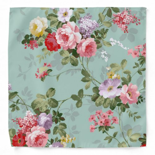 Elegant Modern Vintage Flower Bandana