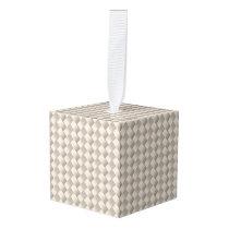 Elegant Modern Weave Pattern Cube Ornament