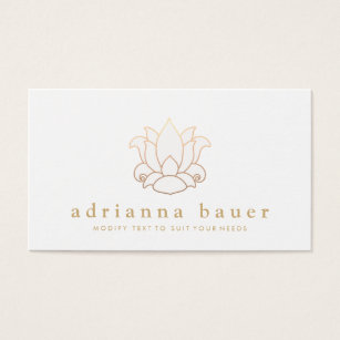 White lotus flower business cards templates zazzle elegant modern white lotus flower business card colourmoves
