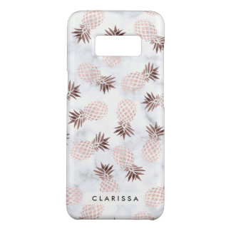 elegant modern white marble rose gold pineapple Case-Mate samsung galaxy s8 case