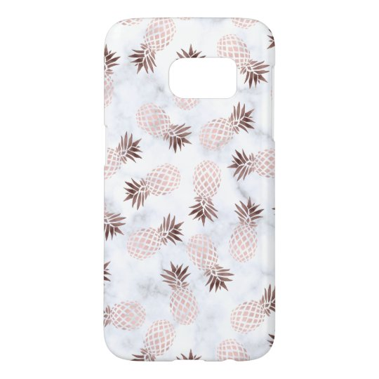 promo code 1e228 d4aec elegant modern white marble rose gold pineapple samsung galaxy s7 case