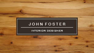Wood grain business cards templates zazzle elegant modern wood grain look business card reheart Gallery
