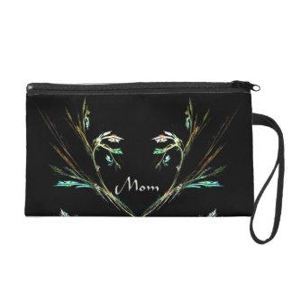 Elegant Mom Fern Fractal Design Clutch Bag