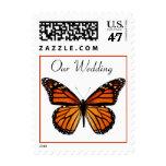 Elegant Monarch Butterfly Wedding Stamp
