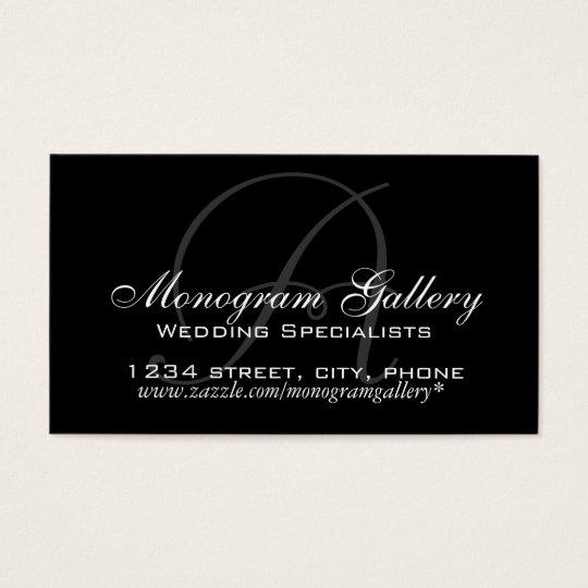 Elegant Monogram A Customizable Business Card