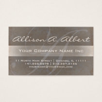 Elegant Monogram A Textured Taupe Business Card
