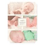 Elegant Monogram Birth Announcements