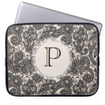 Elegant Monogram Black Lace Designer Laptop Bag Laptop Computer Sleeve