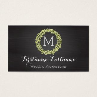 Elegant Monogram Business Cards