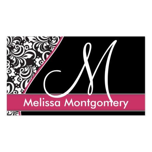Elegant Monogram business - profile card Business Card
