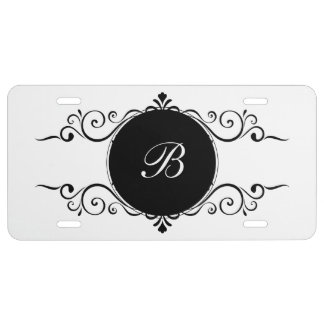 Elegant Monogram Car Tags License Plate