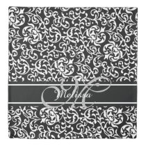 Elegant Monogram Chic Girls Room Duvet Cover