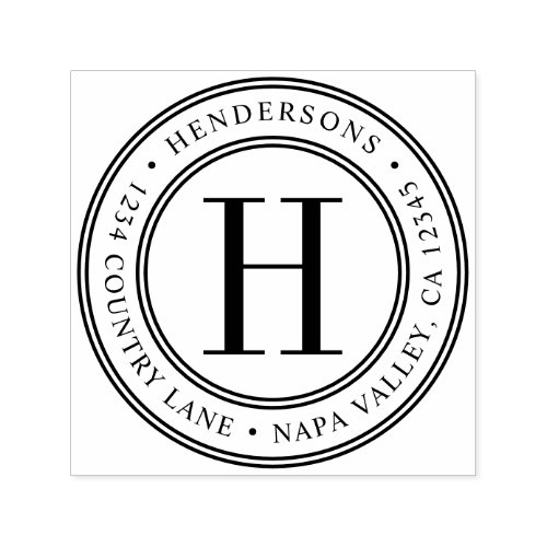 Elegant Monogram  Create Your Own Return Address Self_inking Stamp