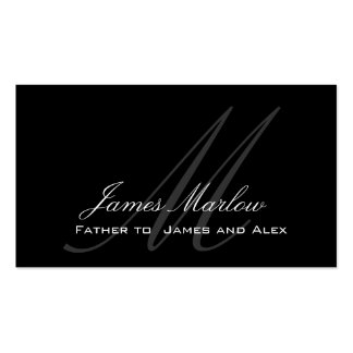 Elegant Monogram Customizable Daddy Calling Card Double-Sided Standard Business Cards (Pack Of 100)