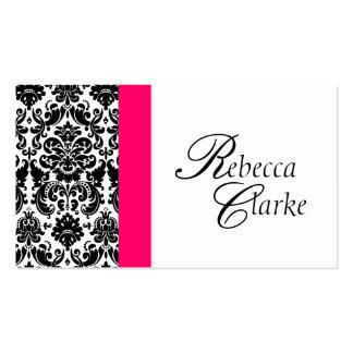 Elegant Monogram Damask Pink Busines Card Business Cards