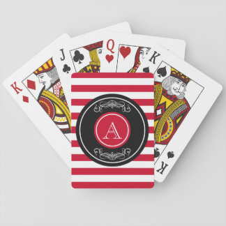 Elegant monogram design playing cards