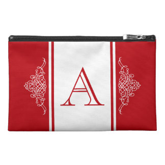 Elegant monogram design travel accessory bag